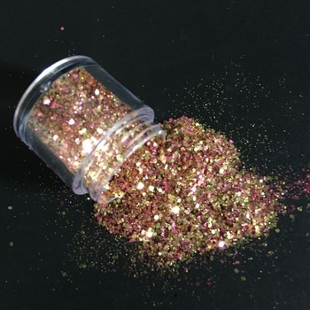 1 caja mezcla 10ML grueso brillo lentejuelas cara cuerpo uñas cabello gemas belleza maquillaje brillo polvo lentejuelas para Festival y fiesta MA03