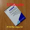 New Arrivals 3700mAh High capacity JY S3 / JY-S3 battery for JIAYU S3 battery free shipping + Tracking number