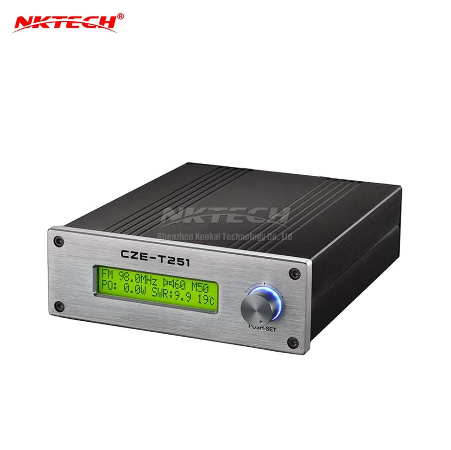 NKTECH CZE-T251 réglable 0 W-25 W FM transmetteur Mono stéréo PLL Station de diffusion simple bouton opération SWR température protéger