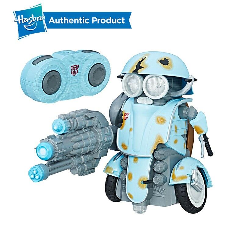 Autobot Transformadores Hasbro O Último Cavaleiro Sqweeks RC Remoto iluminação Voz Presentes Boneca Action Figure Coleção Modelo de Carro Menino