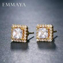 EMMAYA – Boucles d'oreilles carrées AAA en zircone pour femmes, bijoux de luxe, de fête
