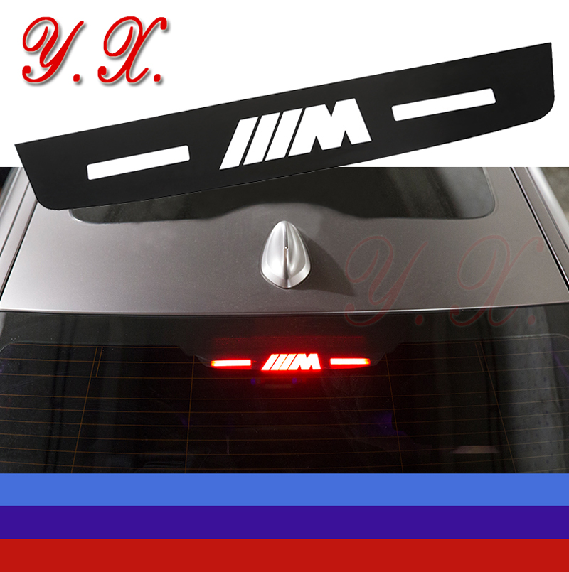 High quality ABS For BMW E90 F10 F30 F01 3 5 7 series sticker For BMW M Logo Brake lights decorative stickers Car accessories