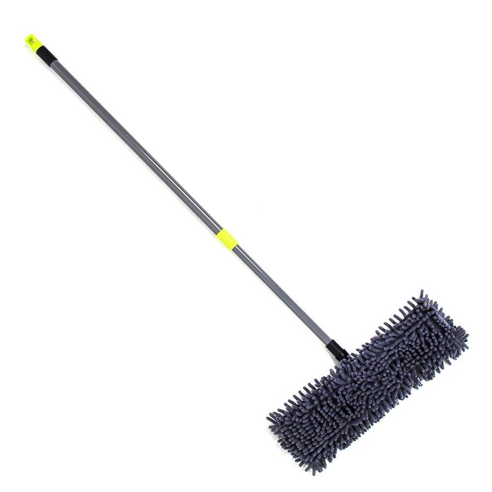 Швабра с выдвижной ручкой и тряпка из микрофибры для чистки и уборки дома - 3