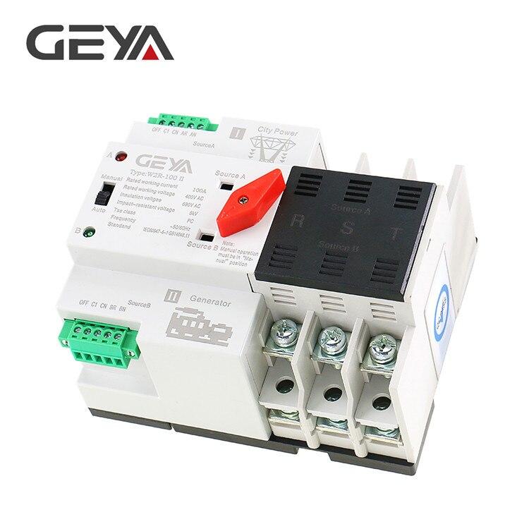 Большая Акция, автоматический переключатель передачи W2R мини ATS двойной выключатель питания ATS 2P 3P 4P 16A 20A 25A 32A 40A 50A