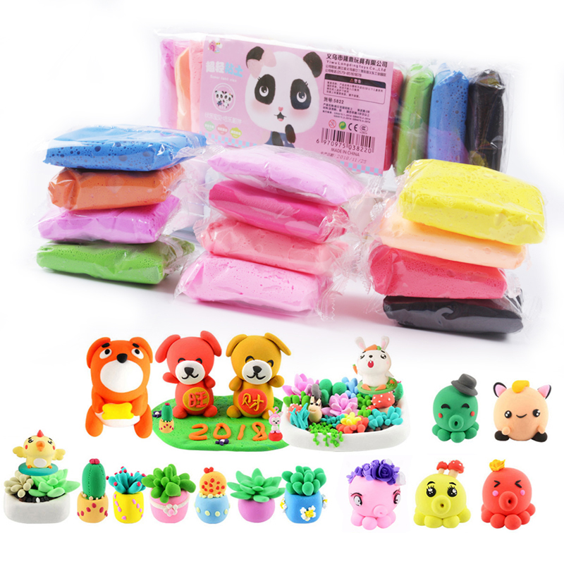 36-color packaging slime ultra-light clay childrens puzzle decompression DIY space mud toy