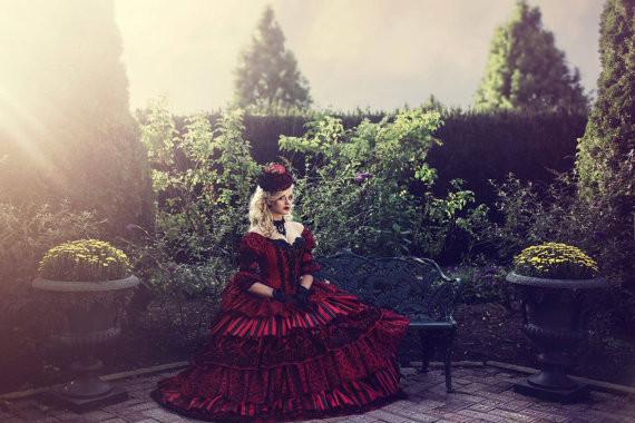 Top Sale Masquerade Circus Ball Gown Wedding Gothic Victorian ... 7588ec913ee8