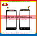 "High Quality 4.5"" For Huawei Ascend Y511 Touch Screen Digitizer Sensor Front Glass Lens Panel Black White+Tracking Code"