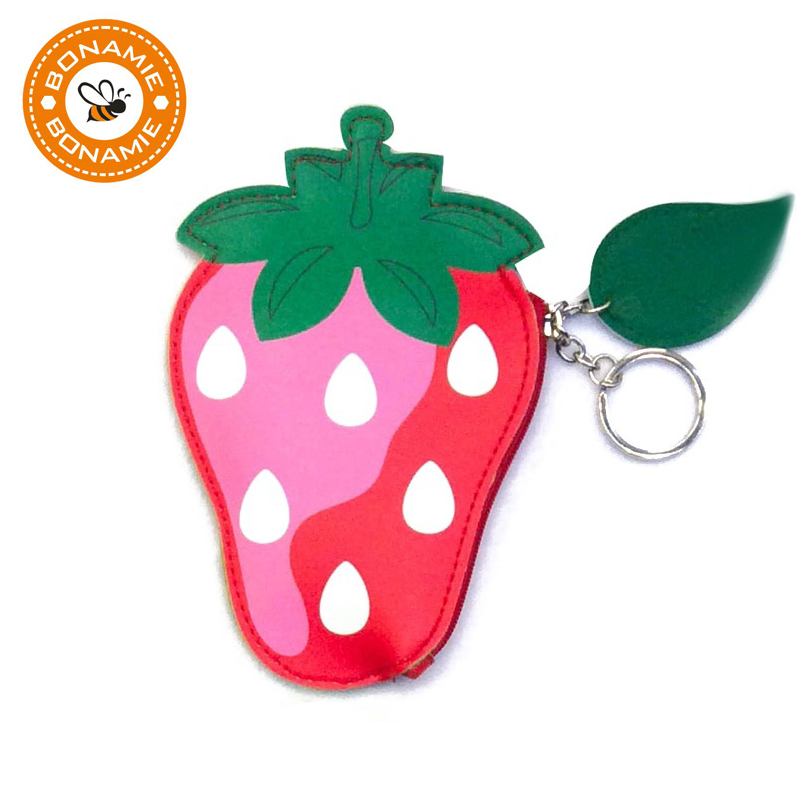 BONAMIE Cute Fruit Pattern Coin Purse PU Leather Wallet Women Mini Purse Women Pouch Girls Zipper Change Wallet Card Holders лампа светодиодная e27 6 5w 2700k шар матовый 28243