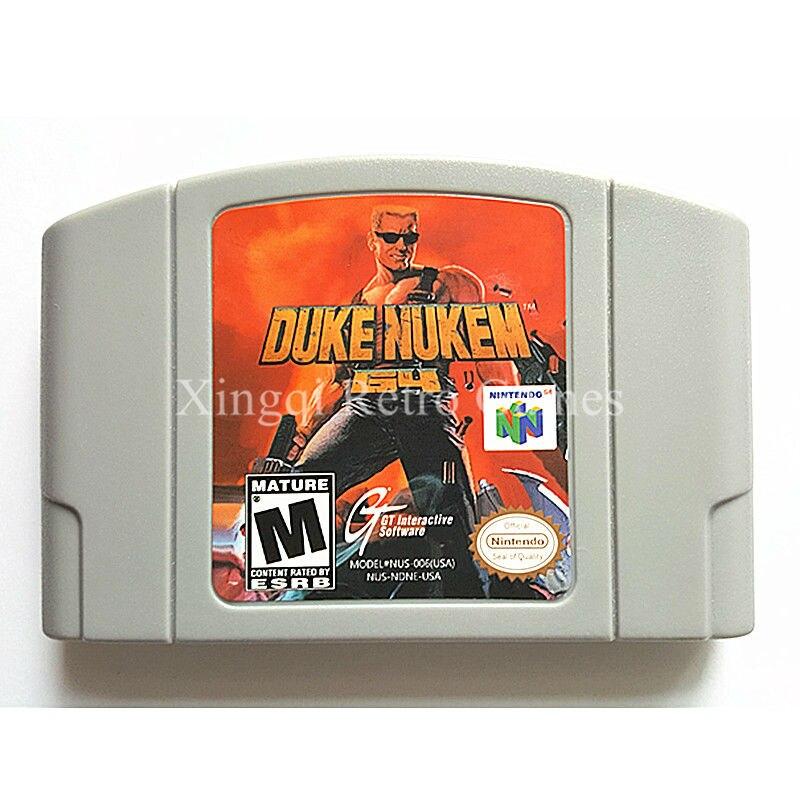 Nintendo N64 Game Duke Nukem 64 Video Game Cartridge Console Card English Language US Version