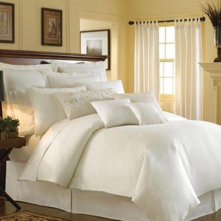 Европа Стиль high end Постельные принадлежности 100% Атлас 100% хлопок Queen кровать 1.5 м Набор пододеяльников для пуховых одеял комплект 8 шт. Постель