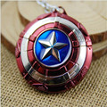 Fashion Key Ring The Avengers New Marvel Super Hero Captain America Shield Action Figure Keychain 6Pcs/lot