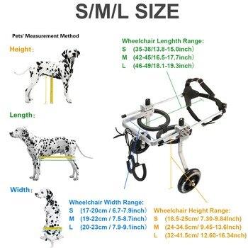 Pet Rollstuhl/Gelähmte Pet Rollstuhl/Allgemeine Lähmung Hund Roller/Behinderte Hund Rehabilitation Wheelchchair S/M/ L GRÖßE