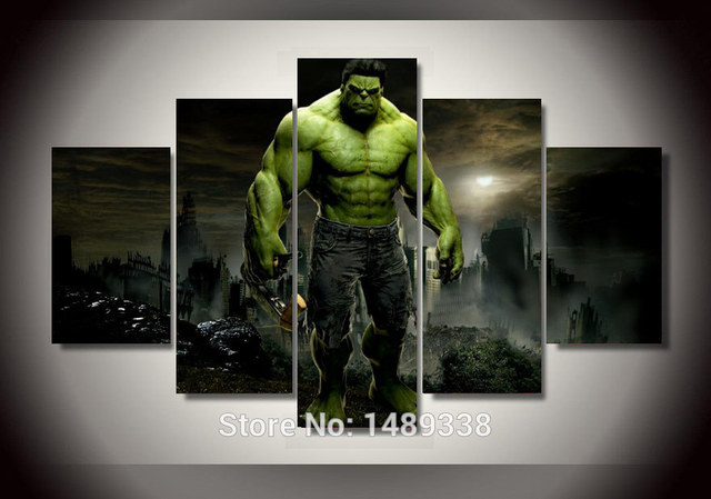 Framed Printed Hulk Movie Group Painting Children S Room Decor Print Canvas Art Wall Landscaping Paintings
