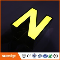 Custom storefront decorative LED lighting metal letters for signs