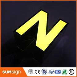 Custom storefront decorative LED lighting metal letters for signs