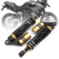 "Universal 13.5"" 340mm Motorcycle Air Shock Absorber Rear Suspension Spring Damper Replacement For Yamaha Black & Gold D30"