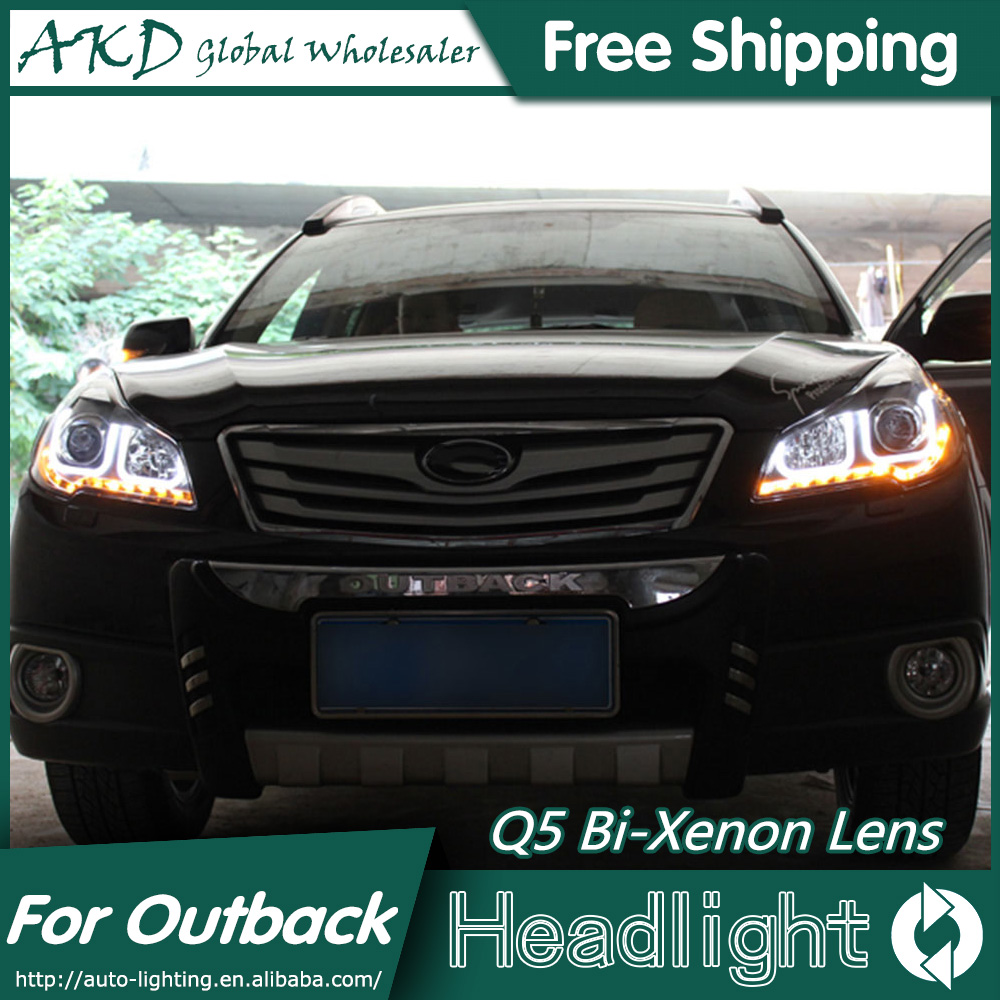 Us 452 4 13 Off Akd Car Styling For Outback Headlights 2010 2014 New Outback Led Headlight Led Drl Bi Xenon Lens High Low Beam Parking In Car Light