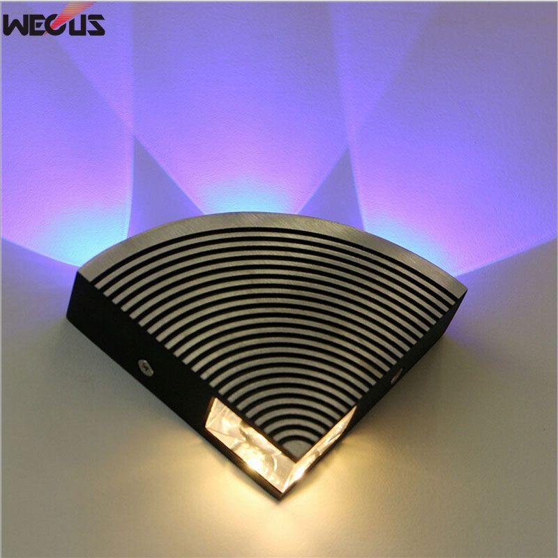 (Manufacturers) LED Fan-shaped Wall Lamps, Hallway / Corridor Aluminum Wall Lamp, AC90-265V 4W
