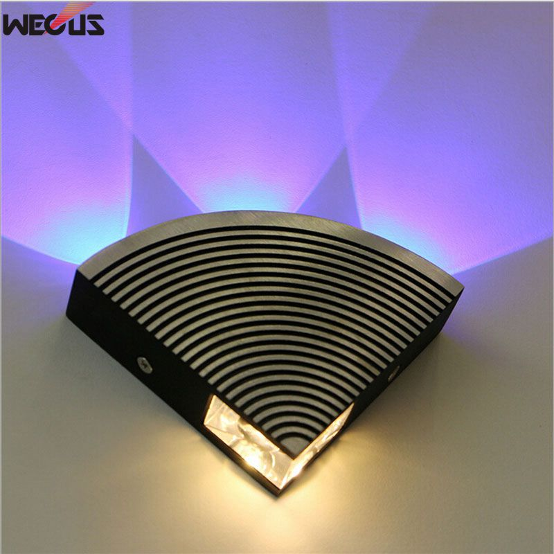 (Manufacturers) LED fan-shaped wall lamps, hallway / corridor aluminum wall lamp, AC90-265V 4W