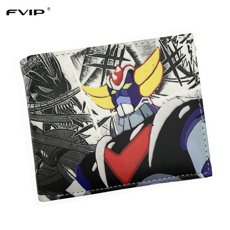 FVIP 2017 New Pu Short Men Wallet Anime Dragon Ball DC Comics Bombshells Guardians of The Galaxy Purse With Card Holder