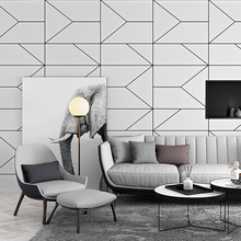 Nordic style wallpaper ins geometric pattern line graphic bedroom living room modern minimalist TV background decor