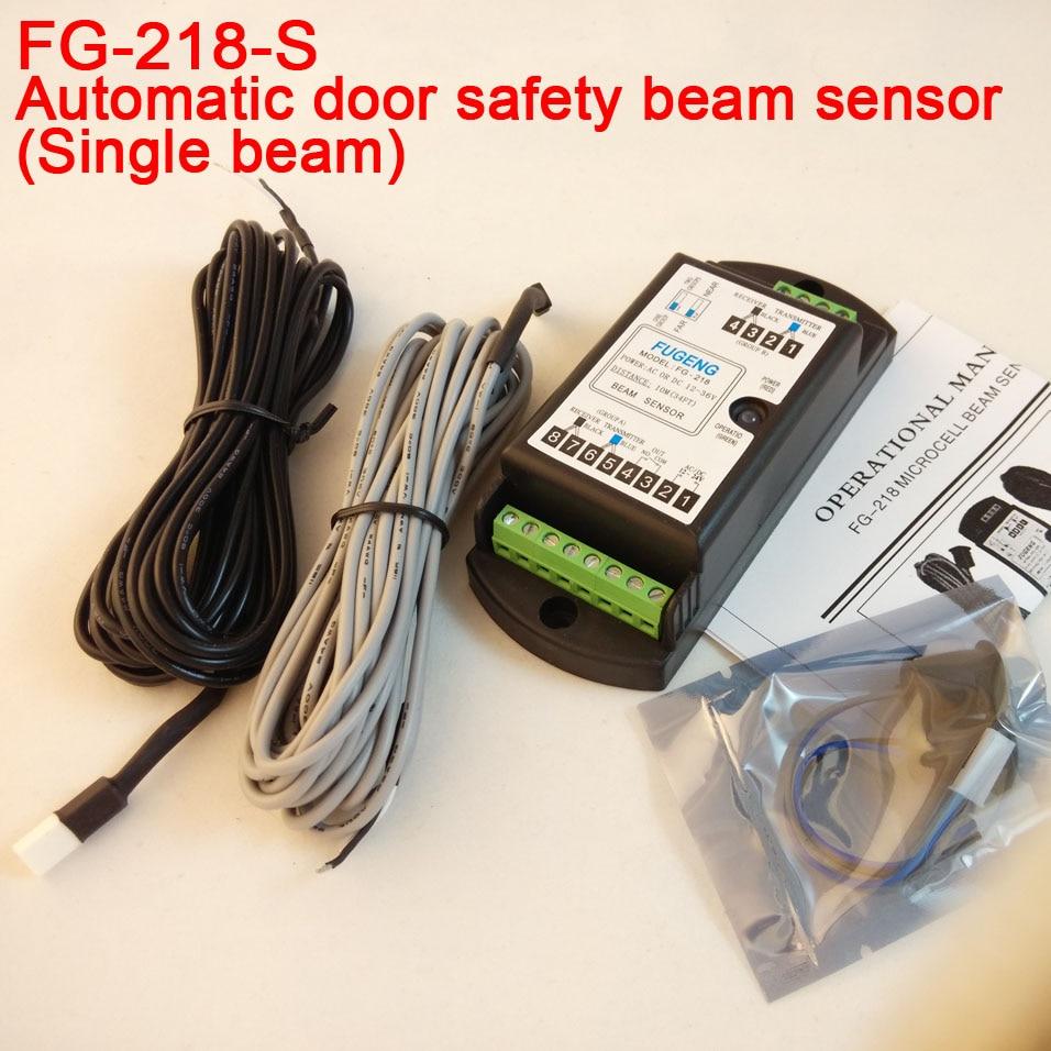 купить Fast delivery Single beam automatic door safety sensor door open microcell photocell sensor FG-218 по цене 1699.94 рублей