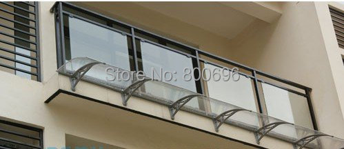 YP100600 100x600cm 39x236in polycarbonate awning, PC window canopy, rain awning,entrance cover,retractable awning