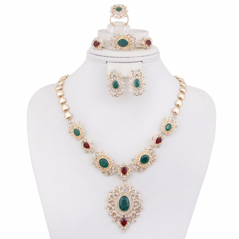 2017 new 4pcs set new year sales morocco jewelry sets
