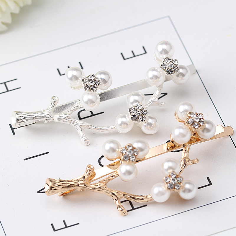 M MISM 2017 New Arrival Women Girl Shinning Crystal Rhinestones Pearls Hairpin Hair Clip For Wedding Hair Accessories Hairwear halloween party zombie skull skeleton hand bone claw hairpin punk hair clip for women girl hair accessories headwear 1 pcs