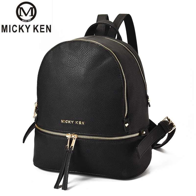Luxury Backpack 2018 Women Bags Designer bolsos mujer Teenager Girls  Satchels Women Fashion Backpacks PU Leather