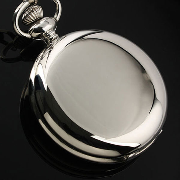 Купить с кэшбэком Hot Sale Style Fashion New Arrvial Classic Smooth Vintage Silver Color Women Mens Arabic Numbers Fob Pocket Watch Clock Shipping