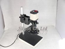 2 MP HD TV AV VGA Microscopio USB de La Cámara para La Industria de Laboratorio Salida USB Video Recorder + Lentes de montura C + anillo de Luz + Soporte