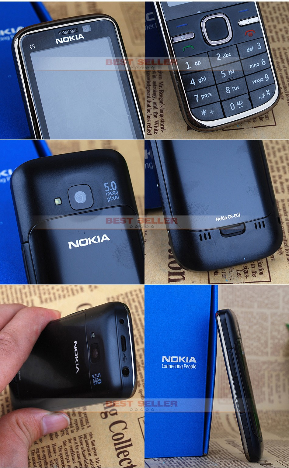Refurbished Phone Original Nokia C5 00 Cell Phones Gsm 3g 3mp E71 05 Specifications