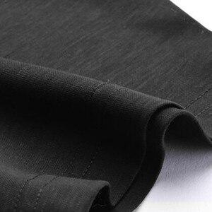 Image 5 - 2019 חדש בכיר קיץ מותג חולצה גברים עסקים קצר שרוול חולצה רופף דק כותנה חולצה זכר אופנה מוצק צבע מגמה tees