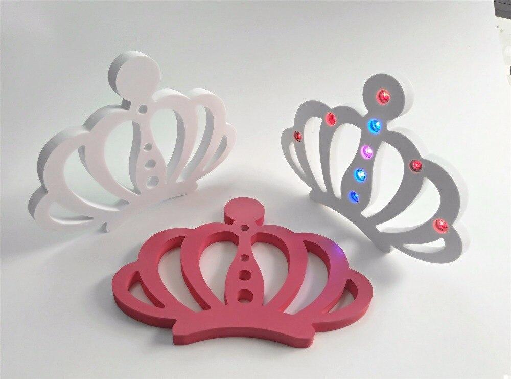 15cm umetna lesena črka LED svetleča krona rojstnodnevne zabave za - Dekor za dom - Fotografija 3