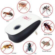 Электронный ультразвуковой здоровый Rechargeble против комаров насекомых вредителей отвергнуть мышь репеллент Отпугиватель практичный дом ЕС/США Разъем