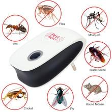 الإلكترونية بالموجات فوق الصوتية صحية قابلة للشحن مكافحة البعوض الحشرات الآفات رفض طارد الماوس مبيد الحشرات العملي المنزل الاتحاد الأوروبي/الولايات المتحدة التوصيل