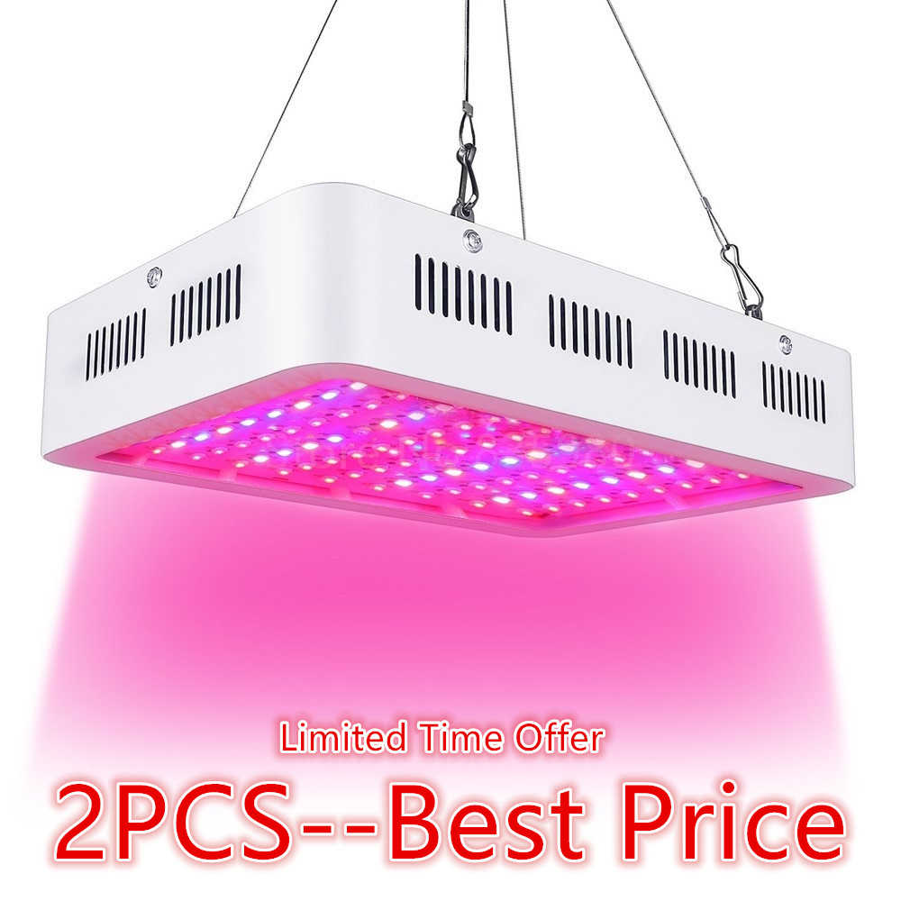 2PCS LED Grow Light 1000W Full Spectrum Plant Light For Medical Flower Plants Vegetative indoor Greenhouse Grow Tent Wholesale 2pcs full spectrum led grow light 400w grow lights indoor plant lamp for plants flower greenhouse grow box tent bloom ae