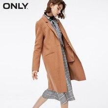 Только женское зимнее Новое модное двустороннее шерстяное пальто простой и стильный цветочный принт Кнопка пальто женское   11834S506