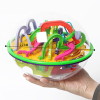 299 Steps Magical Intellect Perplexus Ball Logic Ability Puzzle Ball Toy 3D Maze Ball Intelligence Challenge