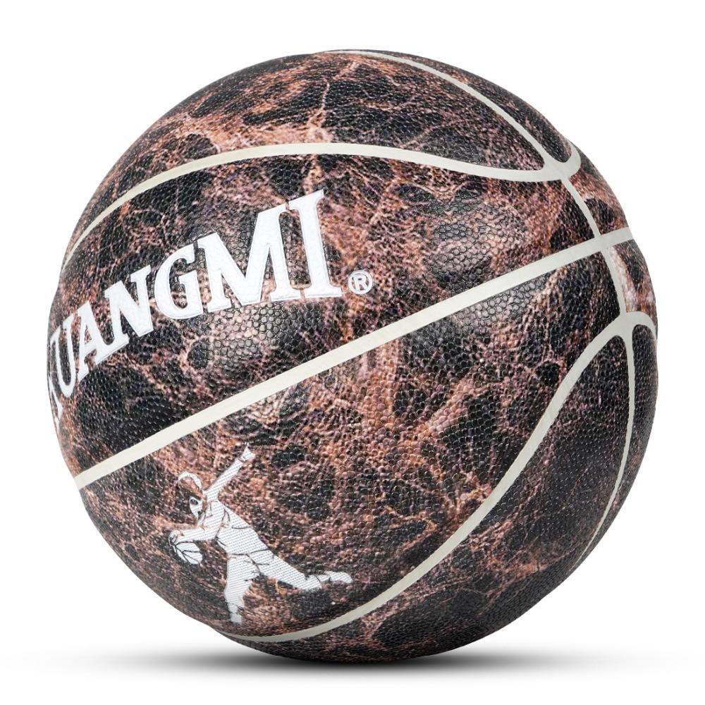 Kuangmi D'origine Rue Basket veines de marbre PU Basket-Ball En Caoutchouc Size7 pour Jeu Formation D'intérieur D'équipement De Sport En Plein Air