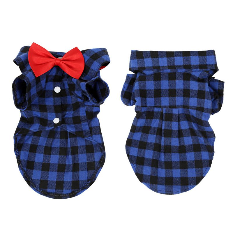 Pet Dog Cat Puppy Clothes Gentleman Bow Tie Suit Tuxedo Costume Collared Shirt S M L XL XXL