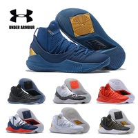 UA Curry 5 Under Armour Basketball Shoes Men's Five Wearable Sport Sneakers Light Cushioning Breathable Shoes Size 40 45