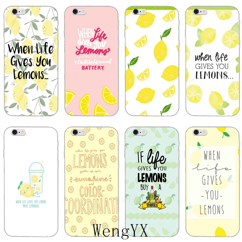 when life gives you lemons quotes Ultra Thin TPU Soft phone cover case For Samsung Galaxy J1 J2 J3 J5 J7 A3 A5 A7 2015 2016 2017