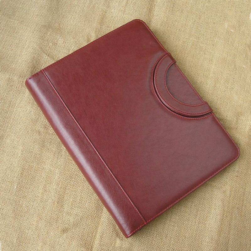 Fau cuir affaires A4 dossier dossier padfolio porte-documents avec poignées gestionnaire document sac à fermeture à glissière sacs pour classeur de documents 1093B