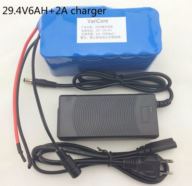 24 6Ah 7S3P 18650 Lithium Battery 29.4 V 6000 mAh electric bike moped / electric / lithium-ion battery + charger24 6Ah 7S3P 18650 Lithium Battery 29.4 V 6000 mAh electric bike moped / electric / lithium-ion battery + charger