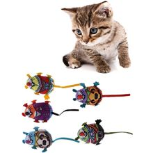 Pet Toy Fat Cat Kitten Teaser Toy Colorful Mouse Cat Toy With Catmint Catnip все цены