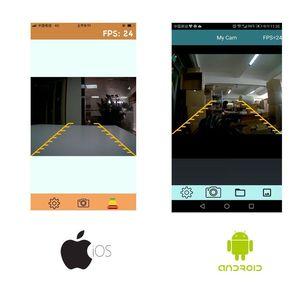 Image 4 - Автомобильная камера заднего вида Podofo, водонепроницаемая камера заднего вида с функцией ночного видения, 28 ИК, Wi Fi, для iPhone и Android