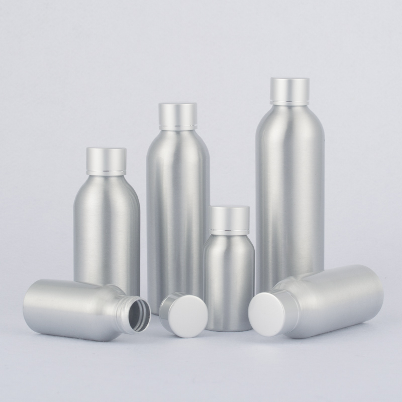 40ml-250ml Aluminum Bottle With Electrified Aluminum Cover,Cosmetic Packaging Empty Bottles