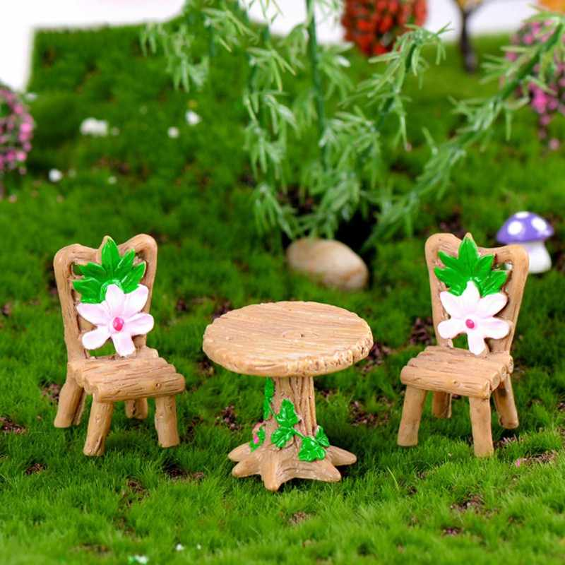 Moss Micro Landscape Succulent Plant Decoration Wood Table And